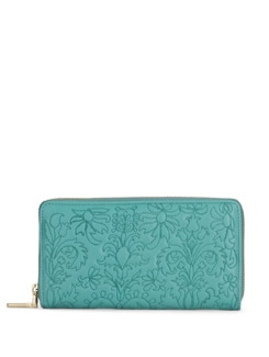 Floral Wallet In Turquoise - Eske