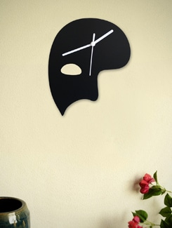 Phantom Of The Opera Mask Clock - Silhouette