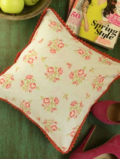Rose Print Cushion Cover- Set Of 2 - Morning Blossom