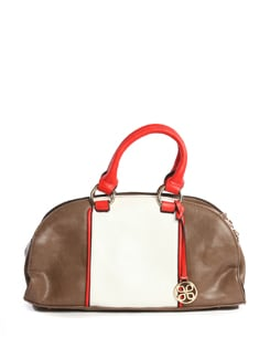 Brown And White Tote - Addons