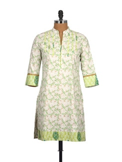 Pastel Paisley Print Pure Cotton Long Kurti - Tamirha