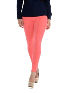 Peach Cotton Leggings - SORRISO