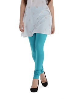 Blue Cotton Leggings - SORRISO