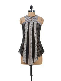 Printed Black & White Tunic - AND