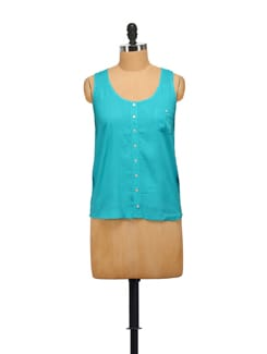 Turquoise Sleeveless Top - House Of Tantrums
