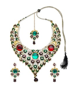 Maangtika And Necklace Set - Vendee Fashion
