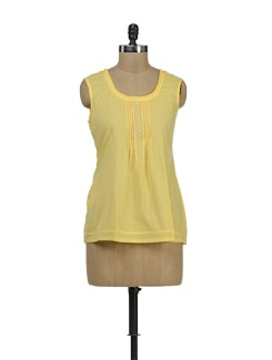 Bright Yellow Frill Top - Palette