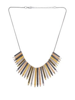 Metallic Pencil Spikes Necklace - Blissdrizzle