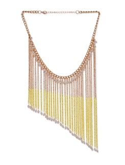Gold & Yellow Tassled Necklace - Blissdrizzle
