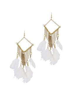 Feather Drop Earrings - Blend Fashion Accessories