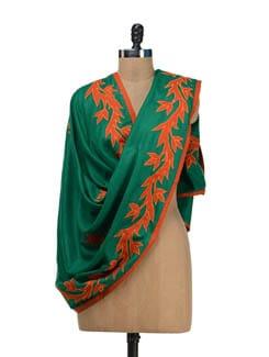 Green Woollen Shawl - Vayana
