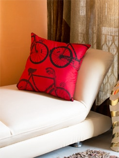 Bicycle Print Cushion Cover - HOUSE THIS