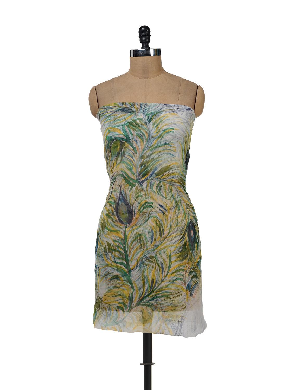 Leaf Print Georgette Charm - Vivaa