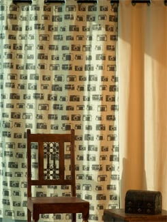 Camera Print Door Curtain - HOUSE THIS