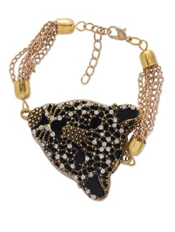 Elegant Black & Gold Bracelet - YOUSHINE