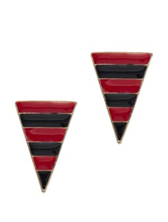 Red & Black Inverted Pyramid Earrings - YOUSHINE