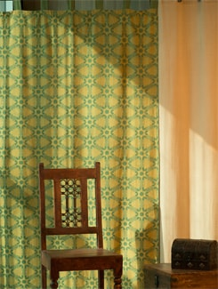 Moroccan Print Door Curtain - HOUSE THIS