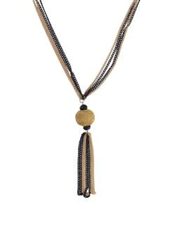 Black & Gold Pendant Necklace - YOUSHINE