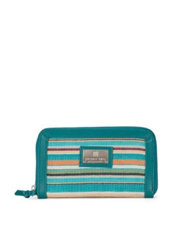 Multipurpose Striped Wallet - Ivory Tag