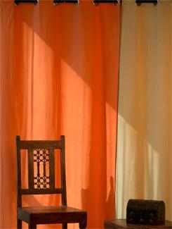 Orange Door Curtain - HOUSE THIS