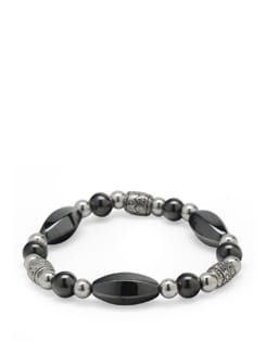 Hematite Power Bracelet - Ivory Tag