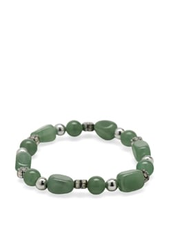 Green Aventurine Power Bracelet - Ivory Tag