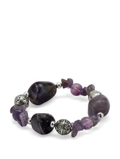 Amethyst Power Bracelet - Ivory Tag