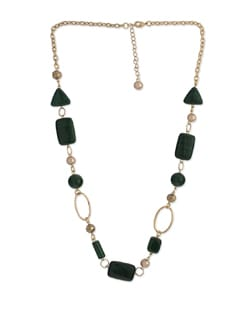 Raving Malachite Long Necklace - Ivory Tag