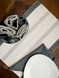 Black And White Placemat And Napkin Gift Set - HOUSE THIS