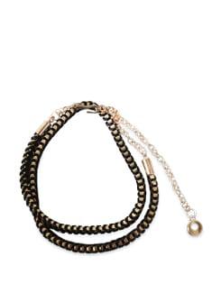 Stylish Black & Gold Belt - Lino Perros