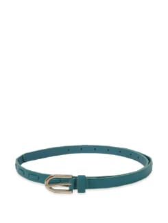 Teal Blue Thin Belt - Lino Perros