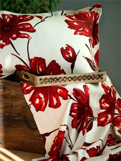 Floral Print Double Bed Sheet Gift Set - HOUSE THIS