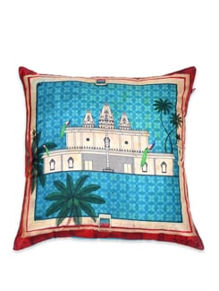 Tamara Pristine Abode Poly Silk Cushion Cover - India Circus