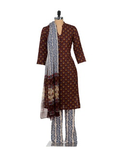 Floral Print Cotton Suit With Trousers - Lyla