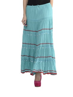 Aqua Blue Long Skirt - Lyla
