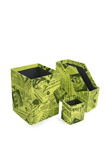 Green Combo Set Of 3- Magazine Holder, Storage Bin& Pen Stand - Paperhandy