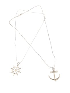 Helm With Anchor Pendant Set - DIOVANNI