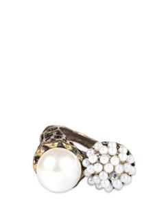 Bronze Engraved Pearl Ring - ANTIFORMAL