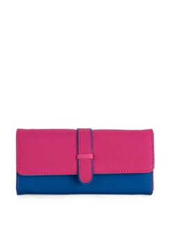 Pink & Blue Colorblocked Wallet - Toniq