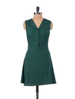Elegant Bottle Green Dress - SORRISO