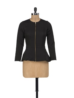 Peplum Zippered Jacket - HERMOSEAR
