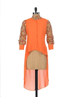 Zesty Orange Asymmetrical Shirt - HERMOSEAR