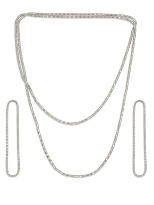 Silver Multi String Necklace