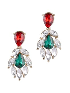 Multicolored Stone Chandilier Earrings - YOUSHINE