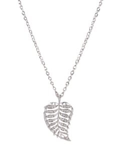 Silver Leaf Pendant Necklace - YOUSHINE