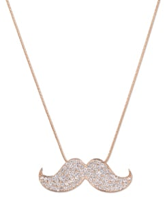 Embellished Moustache Pendant Necklace - YOUSHINE