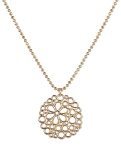 Golden Circular Pendant Necklace - YOUSHINE