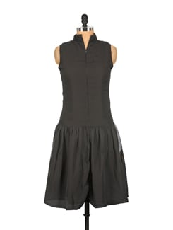 Black Zip Up Dress - Nineteen