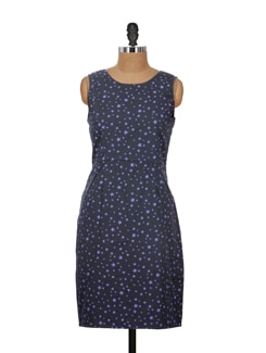 Starry Black & Purple Dress - Nineteen
