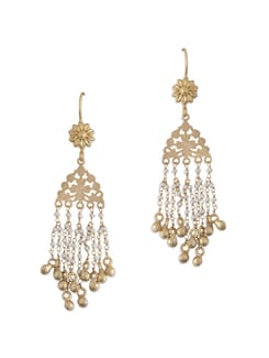 Gold Plated Silver Dangler With Pearls - Posy Samriddh